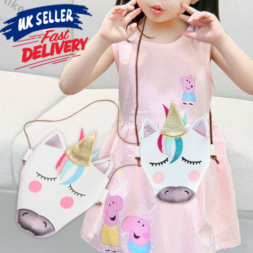 Kids Girls Messenger Gifts Unicorn Shoulder Bag Wallet Handbag Crossbody Purse