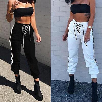 Harem Pantalones Cargo Pantalones De Chandal Para Mujer Cintura Alta Pantalones Bombachos Mujeres Ropa De Calle Ebay
