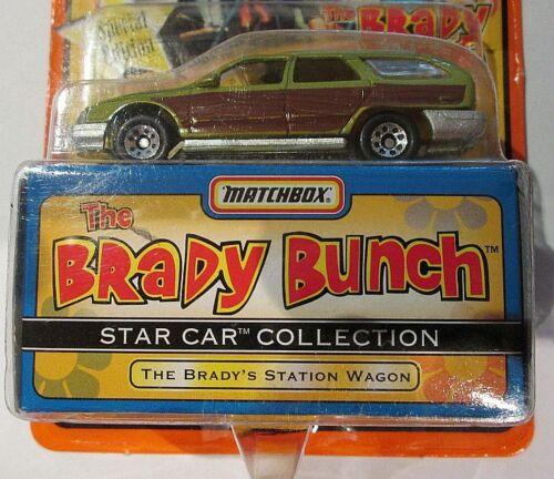 The Brady Bunch Station Wagon ~ 1997 Matchbox Star Car ~ WORN CARD
