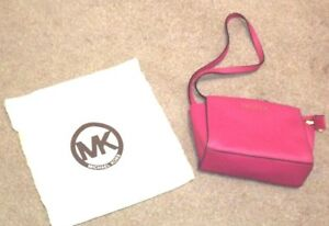 Inc Bag Fuchsia Micheal Pink Vgc Dark Kors Crossbody Dustbag Medium Shoulder 8RzxqwS