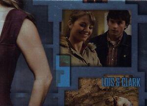 Smallville-Season-4-Lois-Clark-Foil-Chase-Card-LC1-Inkworks-2005-Superman