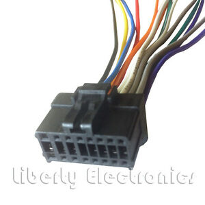 new 16 pin wiring harness plug for pioneer deh 1700 player ebay Pioneer DEH-16 Wiring Harness Diagram image is loading new 16 pin wiring harness plug for pioneer