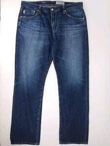 Hommes D Jeans Adriano Goldschmied Sz Bleu 38 Protoge Jambe Droite 4q5qZ