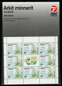 Greenland-Sc-431a-432a-2004-Edible-Plants-stamp-miniature-sheets-mint-NH