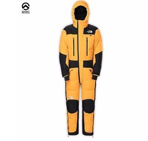 New-North-Face-Himalayan-Down-Suit-Md-Med-Medium-Yellow-Black-Mens-Summit-Series