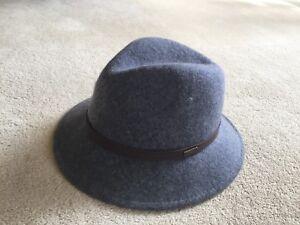 b134031d2d BNWT Barbour Ladies Grey Wool Felt Kirkaldy Trilby Hat - Size Medium ...