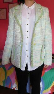 release date 64892 9f84d Dettagli su giacca multicolore CHICC modello Chanel elegante sartoriale da  donna