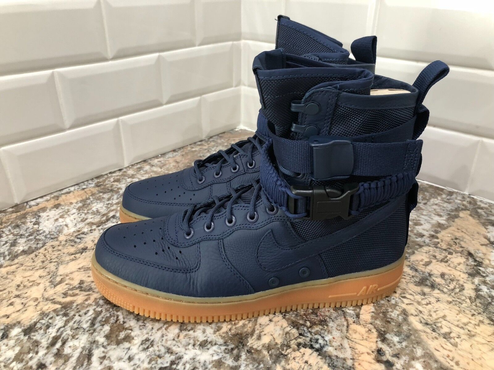 Nike SF AF1 Air Force 1 Special Field Minuit bleu Marine Haut Taille 10 864024 -400