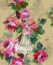 PINK FLORAL BLOOM WALLPAPER METALLIC FINISH ARTHOUSE 902906
