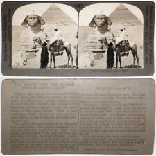 Keystone Stereoview Tilling Soil in EGYPT /& a Pyramid from 1910's Education Set
