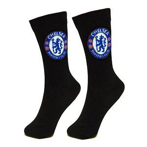Chelsea-FC-Official-Football-Gift-1-Pair-Mens-Dress-Socks-Black