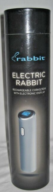 Electric Rabbit ~ Rechargeable Corkscrew with Electronic Display