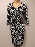 BNWT Savoir Confident Curves Secret Support Black Wrap Dress Size 14 PET