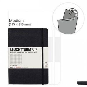 Notizbuch-Medium-A5-Softcover-121-nummerierte-Seiten-Schwarz-liniert