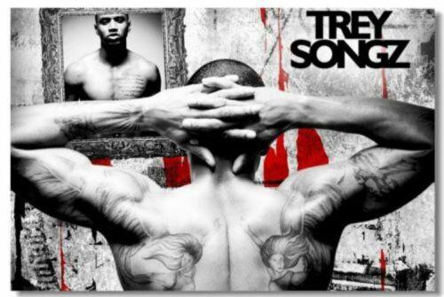 Poster Trey Songz Pop Singer Star Room Club Art Wall Cloth Print 509