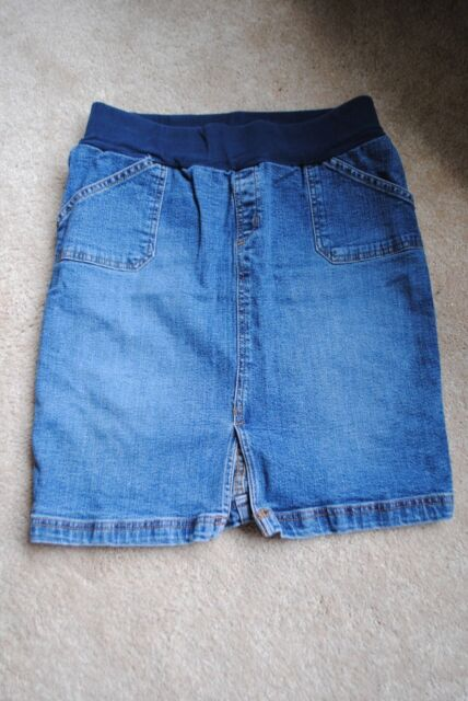 d28c2c27c3058 MIMI MATERNITY ~ Womens Denim Skirt ~ Size S Small ~ Pregnancy | eBay