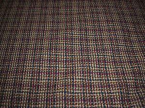 Image Is Loading Blue Green Beige Red Gold Tweed 55 034