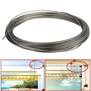 15M-50feet-100-Marine-Grade-316-Stainless-Steel-Cable-Wire-Rope-1-16-034-1-5MM