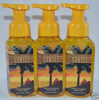 Health & Beauty Lot Of 3 Bain & Corps Works Rio Samba Sunset Doux Moussant Savon à Main 259ml