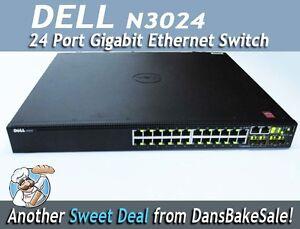Dell Avid Ready N3024 24 Port Gigabit Ethernet Switch