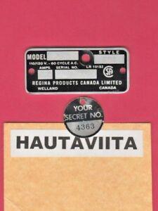 Vintage-Model-850-Regina-Products-Canada-Ltd-Radio-Electric-Tag-Welland-Ontario