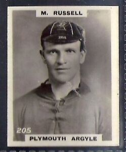 PLYMOUTH ARGYLE M RUSSELL PINNACE FOOTBALL-PINNACE BACK-#0205