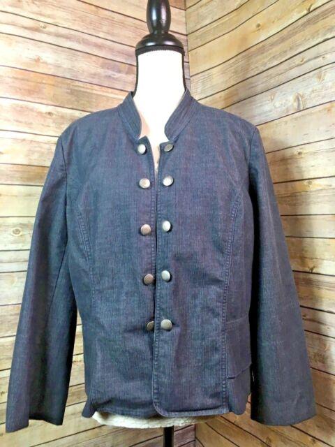 c4ffd66f6f426 Women s Cato Dressy Button Down Open Denim Jacket Pristine Size X-Large