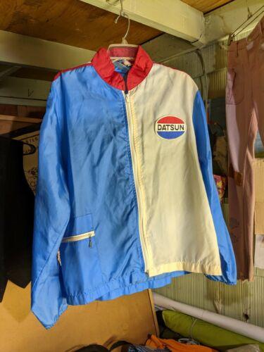 Vintage 70s Datsun Racing Jacket Size XL Crown Cal