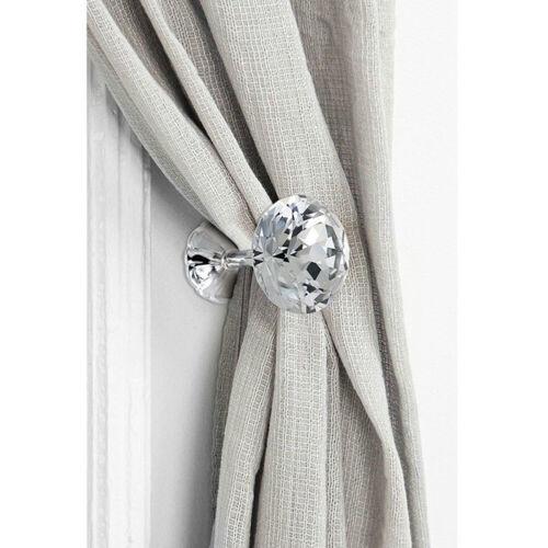 2x Large Metal Diamond Glass Curtain Holdback Wall Tie Back Hooks Hanger Holder
