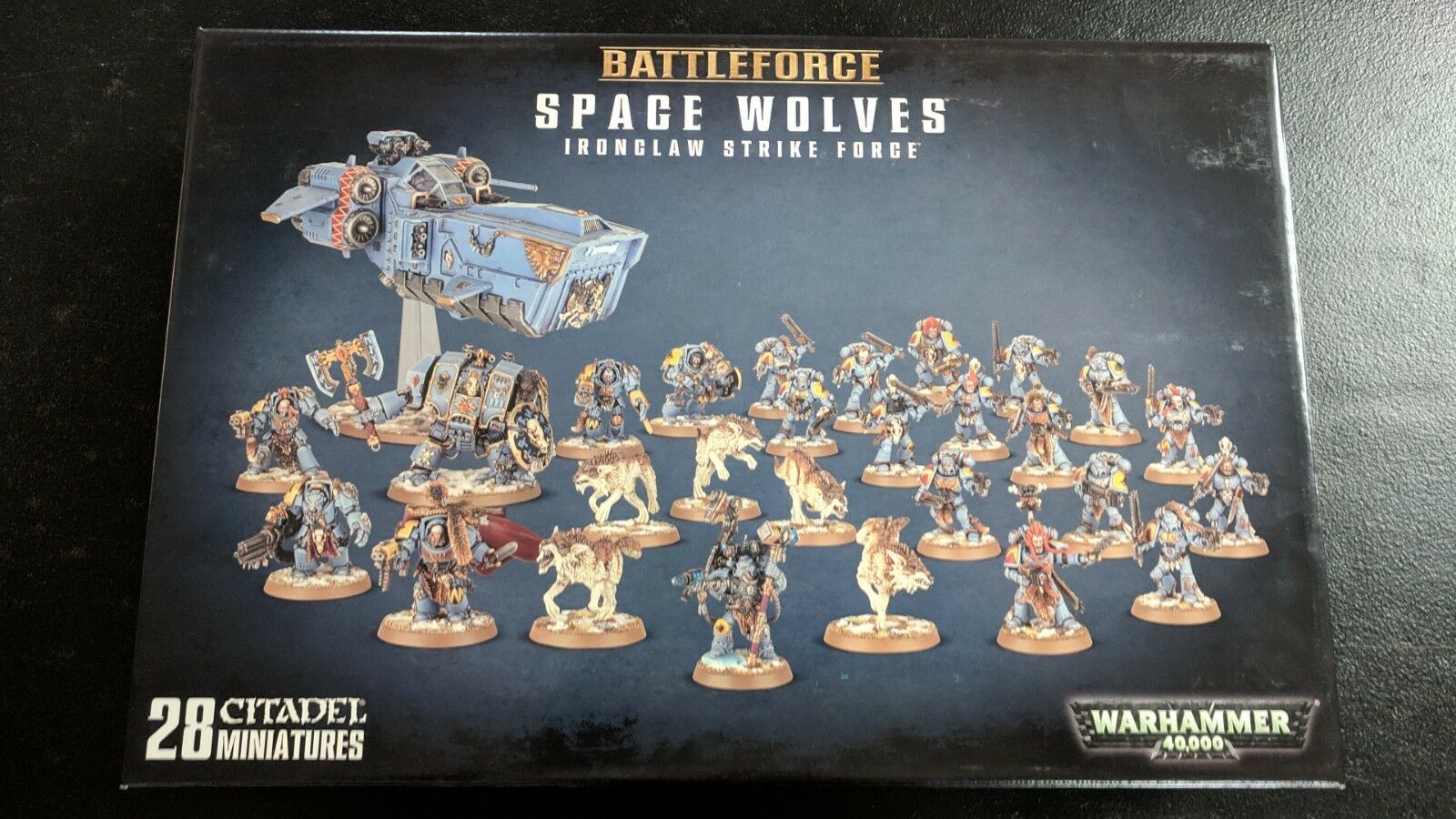 Battleforce espacio Lobos ironclaw huelga Warhammer 40K Casi Nuevo Sellado