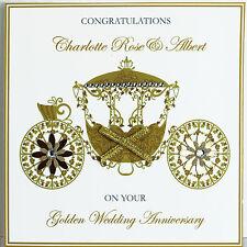 handmade luxury personalised congratulations golden wedding anniversary card