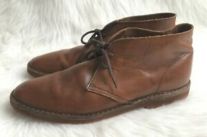 J. Crew Men's Brown Leather Chukka Lace Up Made In Italy Boots Sz 12