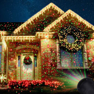 US Christmas Laser Fairy Light Projection Outdoor Star Projector ...