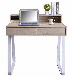 SixBros. Mesa Ordenador Mesa Oficina Mesa Escritorio Roble CT-3532 ...