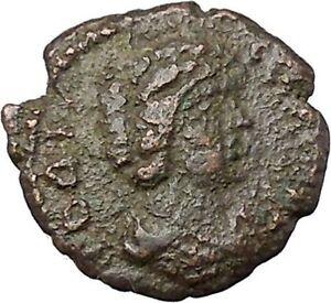 JULIA-DOMNA-193AD-Nicopolis-ad-Istrum-Authentic-Ancient-Roman-Coin-EAGLE-i45391