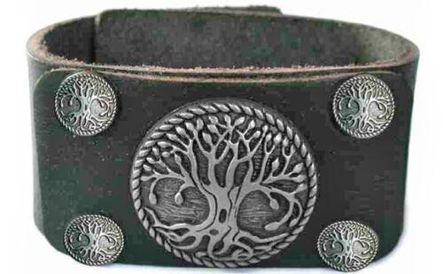 Lederarmband Armband Baum des Lebens Lebensbaum Yggdrasil Weltenesche 18953C