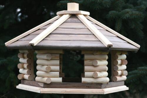 Vogelhäuschen  Vogelfutterhaus XXL! VOGELHAUS aus HOLZ Vogelhäuser mit Ständer