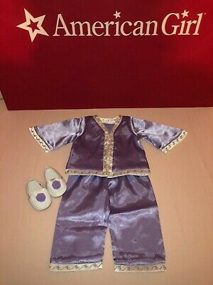 American Girl Doll Nellie Retired Pajamas Shoes Slippers ONLY