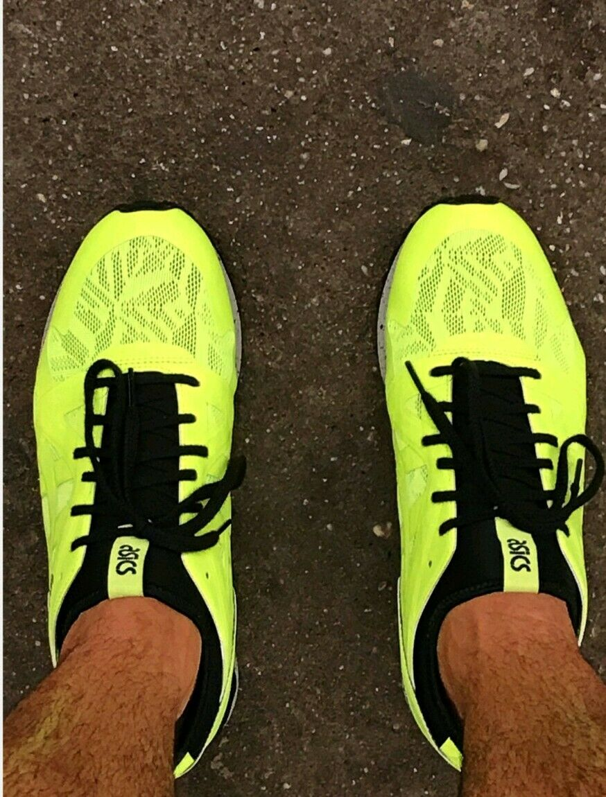 Mens running shoes SAFETY YELLOW ASICS GEL-Lyte V NS HY7M1-0707