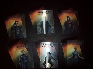 Details about X-men xmen apocalypse movie promotional lenticular trading  card marvel set of 6