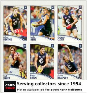 Popular-2009-Select-AFL-Sticker-Base-Team-Set-Carlton-12
