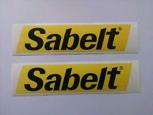 Sabelt Motorsport Sticker Decal x 2 Abarth