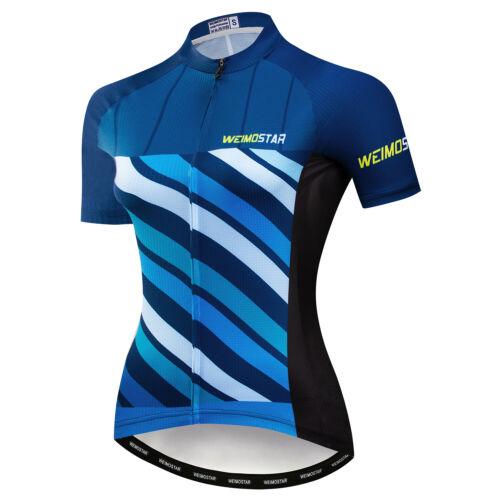 New Sport Cycling Jersey Women Bike T-Shirt Short Sleeve Bicycle Clothing Top