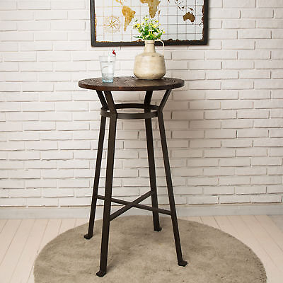 Fine Glitzhome Rustic Steel Bar Table Round Wood Top Dining Room Pub Table Furniture 6971255304097 Ebay Andrewgaddart Wooden Chair Designs For Living Room Andrewgaddartcom