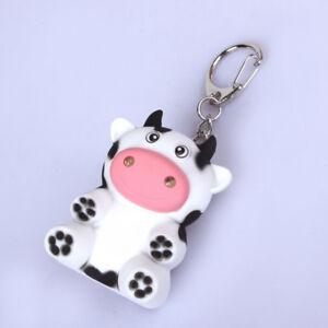 Little-Cow-Animal-LED-Keychain-Keyring-with-Sound-Mini-Torch-Flashlight-Kids-UK