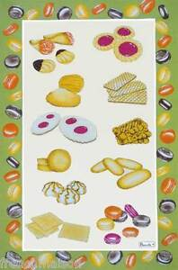 BEAUVILLE-Dish-TOWEL-FRENCH-Gourmet-Pastries-Cookies-Macaroons-PATISSERIE-GIFT