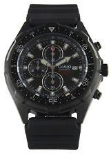 Casio AMW330B-1AV, Analog Watch, Chronograph, Black Resin Band, Date