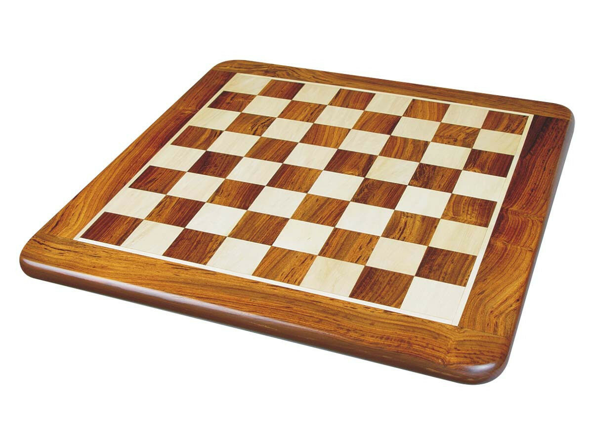 Solid golden pinkwood Maple Flat Chess Board 15  Square Size 1.5  Rounded Edges