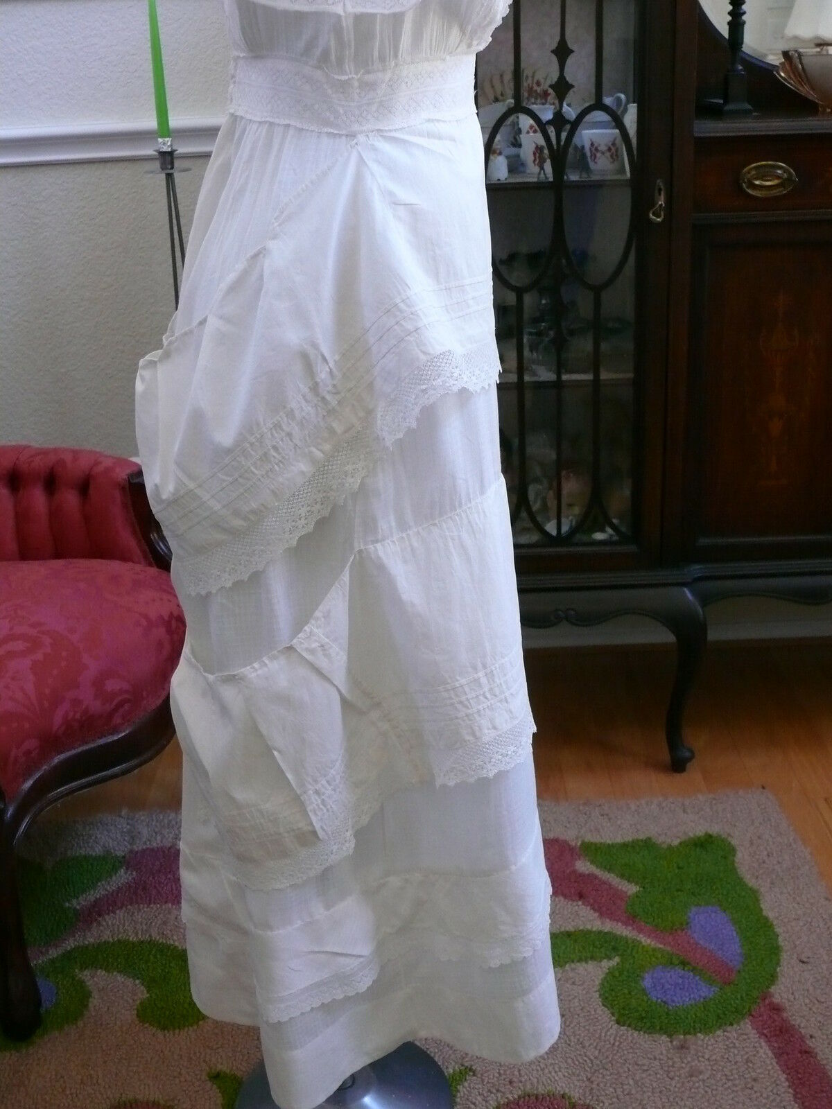 1910`s Edwardian White Dress Titanic Style Unusua… - image 7