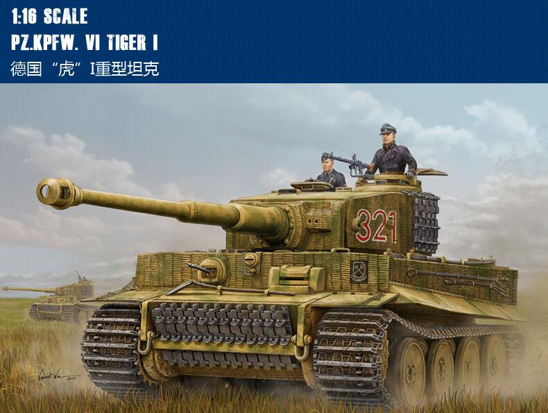Trumpeter 1 16 German Pz.Kpfw VI Tiger I Heavy Tank Assembly Model Kits 82601